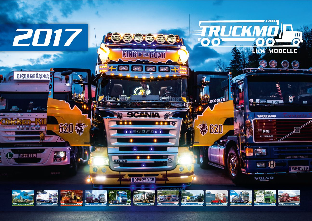 truckmo showtruck kalender 2017 lkw modelle und. Black Bedroom Furniture Sets. Home Design Ideas