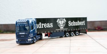 Herpa Andreas Schubert LKW Modell Blue Adriatico Scania R
