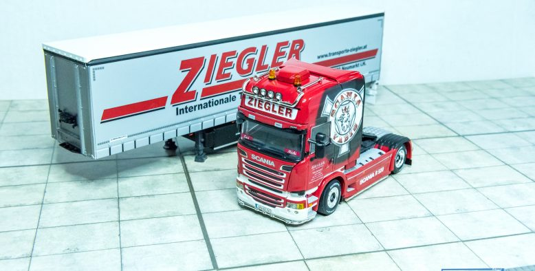 WSI Ziegler Scania R Streamline Topline V8 Planenauflieger